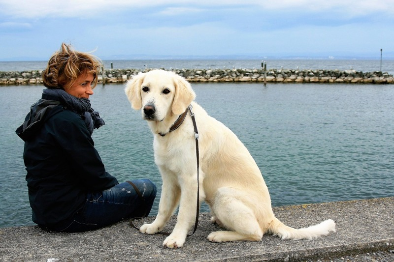 Woman and her dog